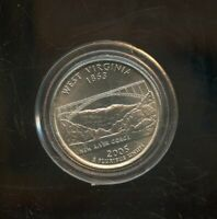 2005 D UNITED STATES WEST VIRGINIA STATE QUARTER 25C COIN JD