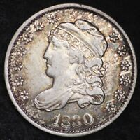 1830 CAPPED BUST HALF DIME CHOICE EXTRA FINE  SHIPS FREE E205 KHL