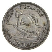ROUGHLY SIZE OF QUARTER   1933 NEW ZEALAND 1 SHILLING   WORL
