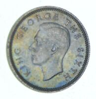ROUGHLY SIZE OF DIME   1951 NEW ZEALAND 6 PENCE   WORLD SILV