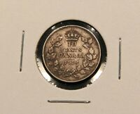 1918 CANADA SILVER 10 CENTS. VF EF CONDITION. TONED.