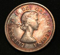 1962 MONSTER TONED CANADA SILVER 25 CENTS. COOL MULTICOLOR TONING