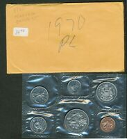 1970 CANADA PROOFLIKE PL MINT SEALED 6 COIN SET.
