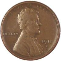 1911 S 1C LINCOLN WHEAT CENT PENNY US COIN GENUINE