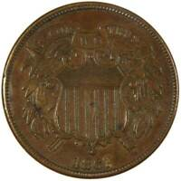 1867 2C TWO CENT PIECE US COIN EXTRA FINE  EF  FINE