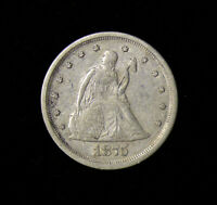 1875 S SEATED TWENTY CENT PIECE 20C   BETTER DATE CIRCULATED COIN