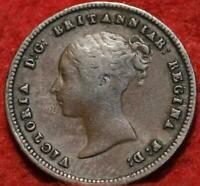 1844 GREAT BRITAIN 1/2 FARTHING FOREIGN COIN