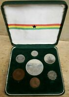 1958 GHANA COMPLETE 7 PIECE COIN SET 1/2 1 PENNY  3 6 PENCE
