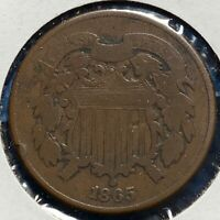 1865 2C TWO CENT PIECE 52239