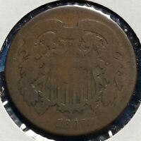 1869 2C TWO CENT PIECE 52242