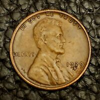 1929 S LINCOLN WHEAT CENT IN  FINE VF CONDITION  $20 ORDERS SHIP FREE