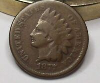 1877 THE KEY COIN IN SERIES LY DIFFICULT TO GET INDIAN HEAD