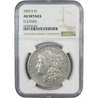 1893 S $1 MORGAN SILVER DOLLAR US COIN AU ABOUT UNCIRCULATED DETAILS NGC