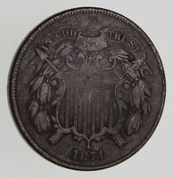 1871 TWO-CENT PIECE - CIRCULATED 7775