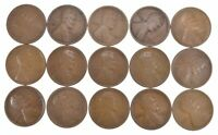 LOT 15 1909-S LINCOLN WHEAT CENTS 4441