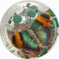 CENTRAL AFRICAN 2014 BUTTERFLY NEOPHRON 3D 1000 FRANCS SILVER COIN PROOF