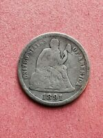1891-S  SILVER SEATED LIBERTY DIME -
