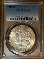 1899-S MORGAN DOLLAR PCGS MINT STATE 62 SHIPS FREE