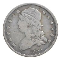 1835 CAPPED BUST QUARTER   CARLTON COIN COLLECTION  076