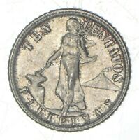 ROUGHLY SIZE OF DIME 1944 PHILIPPINES 10 CENTAVOS   WORLD SI