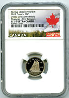2019 CANADA 10 CENT SPECIAL D DAY PROOF NGC PF70 BLUENOSE DI