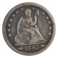 1853 SEATED LIBERTY QUARTER   DIRK COIN COLLECTION  241