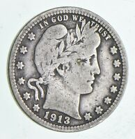 1913 BARBER QUARTER DOLLAR   CHARLES COIN COLLECTION  997