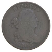 1800 DRAPED BUST HALF CENT   DAVIS COIN COLLECTION  225