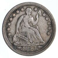 1853 SEATED LIBERTY HALF DIME   DIRK COIN COLLECTION  405