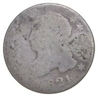 EARLY   1821   CAPPED BUST DIME   EAGLE REVERSE   TOUGH   US