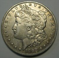 1902 MORGAN SILVER DOLLAR GRADING EXTRA FINE   UNCLEANED COIN PRICED RIGHT   E13