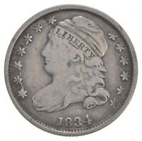 1834 CAPPED BUST DIME   DAVIS COIN COLLECTION  267