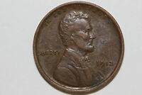 1912-P ABOUT UNCIRCULATED BRONZE WHEAT REVERSE LINCOLN SMALL CENT COIN LPX929