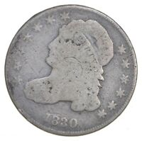 EARLY   1830   CAPPED BUST DIME   EAGLE REVERSE   TOUGH   US