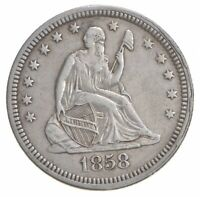 1858 SEATED LIBERTY QUARTER   LEGACY COIN COLLECTION  931
