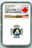 2019 CANADA 10 CENT SILVER COLORED PROOF NGC PF69 UCAM DIME