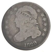 1829 CAPPED BUST DIME   DAVIS COIN COLLECTION  253