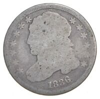 EARLY   1836   CAPPED BUST DIME   EAGLE REVERSE   TOUGH   US