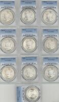10 DIFFERENT MORGAN DOLLARS PCGS MINT STATE 63 1881 S 1882 O 1898-O 1903-P 1888 1888-O