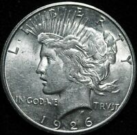 1926 S PEACE  SILVER DOLLAR ALMOST UNCIRCULATED A43-313