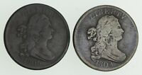 LOT 2 1804 & 1806 DRAPED BUST HALF CENTS 3212