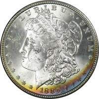 1886 $1 MORGAN DOLLAR 90 SILVER US COIN UNCIRCULATED MINT STATE TONED