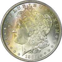 1885 $1 MORGAN DOLLAR 90 SILVER US COIN UNCIRCULATED MINT STATE TONED