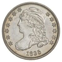 1835 CAPPED BUST DIME 7518