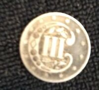 1858 3C THREE CENT PIECE,  GOOD CONDITION, GRAY SURFACES,