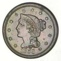 1856 BRAIDED HAIR LARGE CENT - SLANT 5 2866