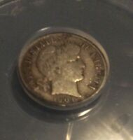 1904-S 10C BARBER DIME, ANACS VG-8 DETAILS, LIGHTLY CLEANED, MUCH BETTER DATE