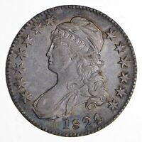 1824 CAPPED BUST HALF DOLLAR - NEAR UNCIRCULATED 1879