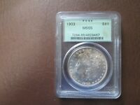 1903   PCGS OLD GREEN HOLDER  MINT STATE 65 MORGAN SILVER DOLLAR