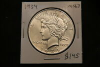 1934 UNITED STATES SILVER PEACE DOLLAR MS63 CHOICE UNCIRCULATED